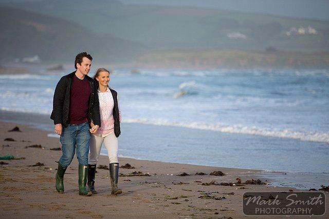 Devon Pre Wedding Photography - Alex and Tom @ Bigbury (2)